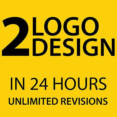 2 Professional Custom Logo Design In 24 Hours + Unlimited Revision + Vector File