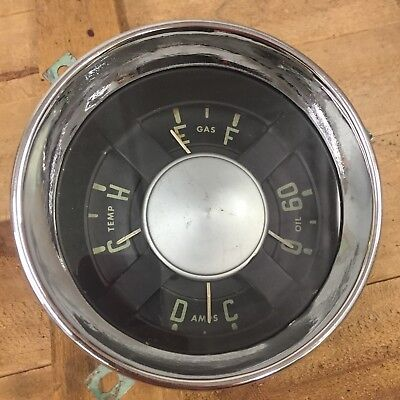 Chevrolet Truck Dash Gauge Cluster  1954 1955 54 55 Nice Chrome