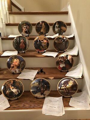 "Lot of 11 Norman Rockwell's ""Rediscovered Women Collection"" Plates Knowles"