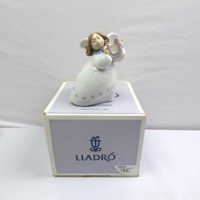 Lladro Figurine Little Angel with Lyre 6528 - EXCELLENT CONDITION WITH BOX