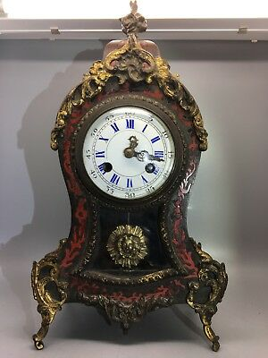 19th C French Vincenti & Co. Boulle Mantle Clock for Restoration