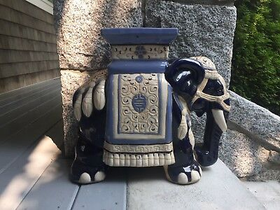 Beautiful Glazed Ceramic Chinese Elephants