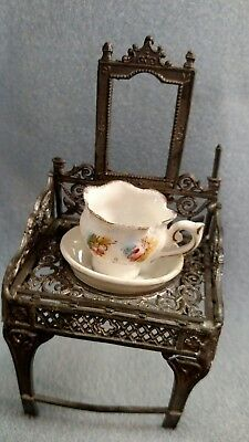 Antique wash Basin Dollhouse Stand