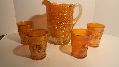 Exceptional Grape & Cable Pitcher & Tumblers