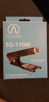 SG-110M Shotgun Microphone with directional noise cancellation