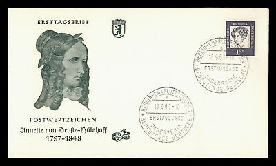 Dr Who 1961 Germany Annette Von Droste-Hulshoff Fdc C38948