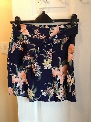 Dorothy Perkins Blue Floral Maternity Shorts Size 10