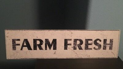 Farm Fresh Metal Sign Antique Paint Texture Design Home Business Outdoor Food