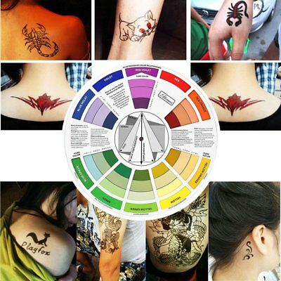 Color Wheel For Tattoo Permanent Makeup Accessories Mixture Color Palette B~