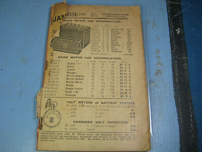 1931 James Grose Motorcycle & Auto Catalog, Harley & Indian Reference Pictures