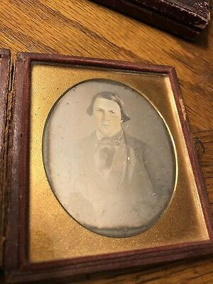 Sixth Plate Daguerreotype Handsome Well Dressed Fashion Pre Civil War Young Man