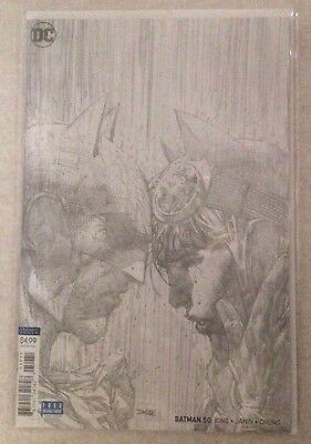 Batman #50 Jim Lee Pencils Only Sketch B&W 1:100 Variant NM