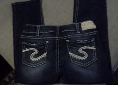 Silver Suki Cropped Capri Jeans Womens Sz 32 Awesome!
