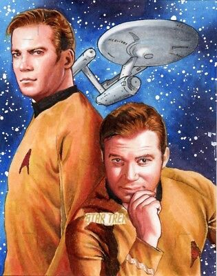 Star Trek TOS Captains Collection Kirk Sketch Card Artist Proof By Louise Draper