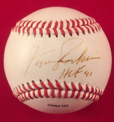 3b376e892b4 Fergie Jenkins Signed Baseball HOF 91 Inscription Autograph Chicago Cubs  READ!