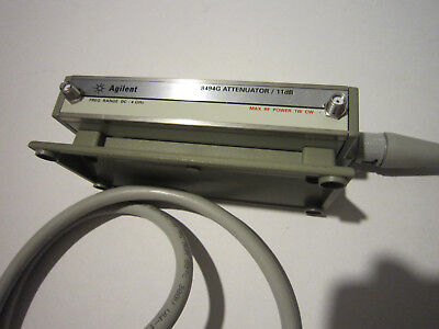 Agilent 8494G Attenuator / 11dB Freq Range DC-4GHz OPT 002 w/Cable