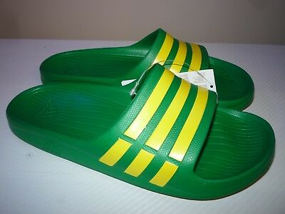 6f117a22b397 ADIDAS DURAMO SLIDE MENS FLIP FLOPS SPORTS SANDALS POOL SLIDES Size 8 UK 42  EUR