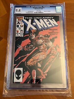 Uncanny X-Men #212 (Dec, 1986, Marvel) NM 9.4 White Pages