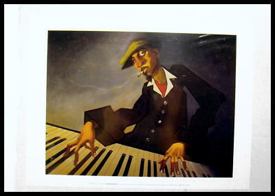 "Great Print Ready For Framing. ""2003 Justin Bua""  Piano Man Ii."