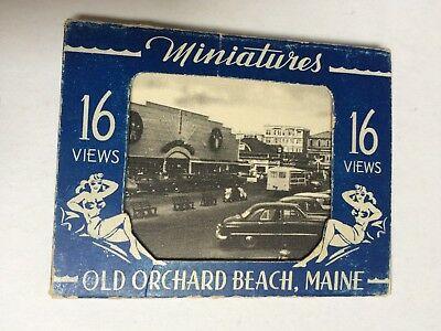 Vintage Miniature Views Souvenir, Old Orchard Beach Maine