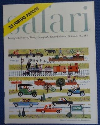 September 1961 PONTIAC Safari Magazine - Introduces '62 Pontiac Car Models