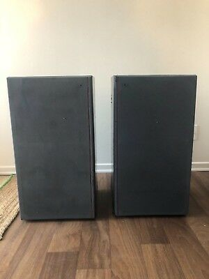 Vintage Sansui S-930 Three-Way 1970s Floor Speakers Hifi Audiophile