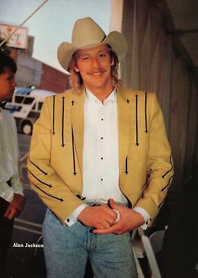 Alan Jackson 1 Page Magazine Picture Clipping Country Music