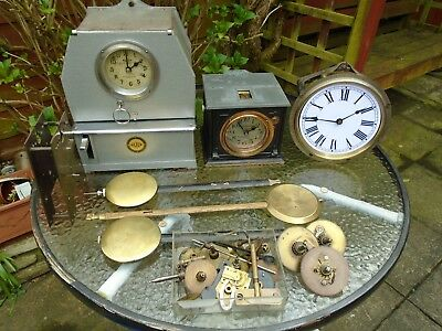 Job Lot Time Recorder Clocks & Parts, Spares/repair See Description