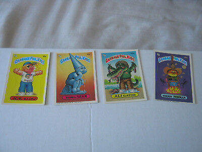 1986  1987 Topps Lot Of 124 Garbage Pail Kids Cards / Stickers A Series Lot Read