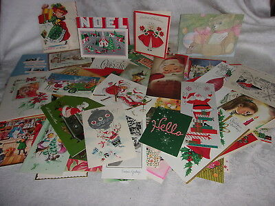 93 Vintage USED Christmas Cards