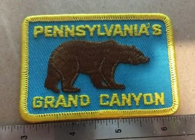 Pine Creek Gorge Pennsylvania's Grand Canyon Brown Bear Light Blue/Yellow Mint