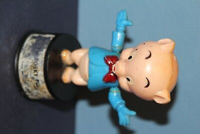 Original 1960S Porky Pig Push Button Puppet Toy