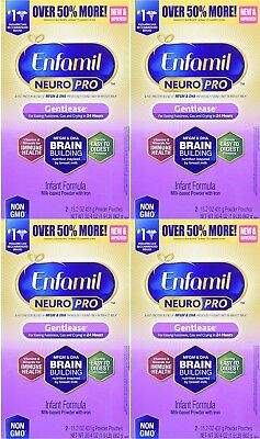 Enfamil Neuropro Gentlease Infant Formula Powder 4 boxes 30.4oz  Total 121.6oz
