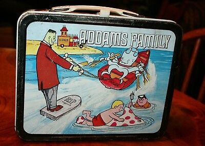 metal ADDAMS FAMILY lunch box no thermos 1974