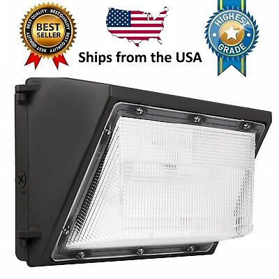 80W 60W LED Wall Pack (+-Dusk to Dawn) 5000K Outdoor Light Fixture, 120-277V