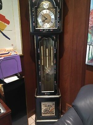 BEAUTIFUL Ridgeway Antique Vintage Oriental Grandfather Clock