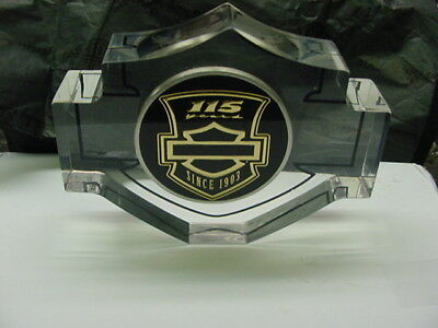 HARLEY DAVIDSON*115th ANNIVERSARY*WING*PAPERWEIGHT*3 1/2 IN X 2 3/4 IN*NEW/BOX
