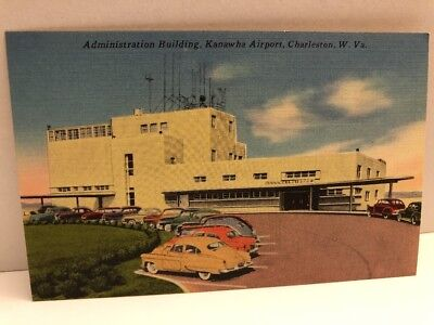 1950s Kanawha Airport Charleston West Virginia Postcard