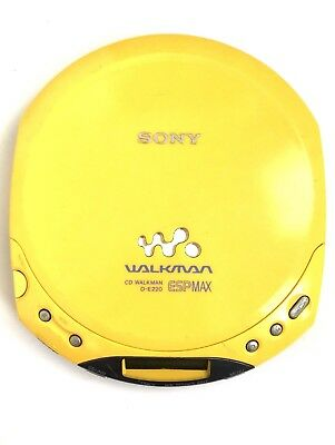 Sony Walkman D-E220 Yellow ESPMax CD Player REWIND NOT WORKING FOR PARTS