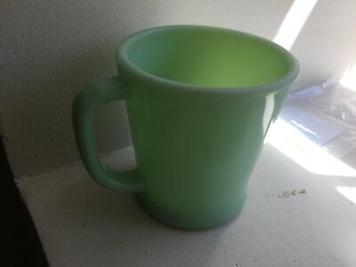 1 Fire King Jade-Ite Jadite Green D Handled Coffee Mug Oven Safe