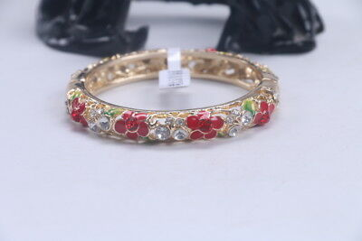 Exquisite Chinese Hand carving Cloisonne inlay rhinestone Bracelet ad63