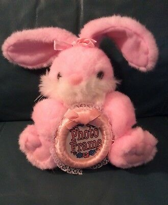 "JOELSON INDUSTRIES Plush Bunny with Photo Frame ""PINK""  NEW!!"