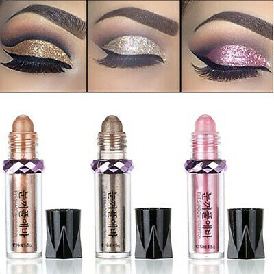 11 Colors Roll On Eye Shimmer Makeup Eyeshadow Glitter Pigment Loose Powder Face