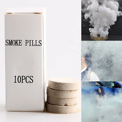 10Pcs Smoke Cake Colorful Smoke Effect Show Round Bomb Stage Photography Aid Toy