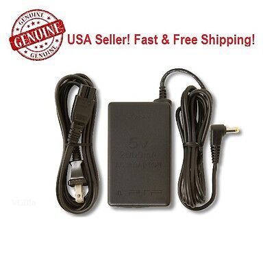 Genuine Sony 5V AC Adapter Charger Power Cable for PSP 2001 Slim 3000 Bulk Pack