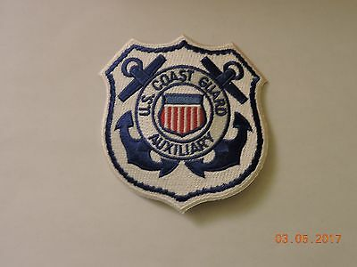 US Coast Guard Auxiliary White/Blue USCG Military Patch #95