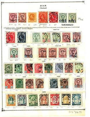 Thailand Stamps, Early Collection 1883 -1920 Lots Of Stamps Hinged . High Cv