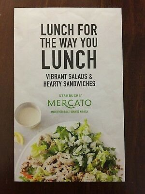 25 filled starbucks free meal mercato lunch certificate cards exp
