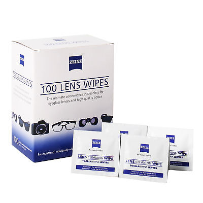 100 ZEISS Lens Cleaning Wipes Eye Glasses Screen Computer Camera Optical Cleaner
