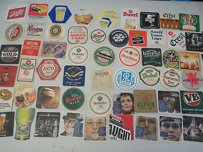 60 x ASSORTED COLLECTABLE BEER COASTERS AUSTRALIA PF23